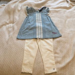 Brand nwt Tommy Hilfiger girls size 3T outfit.
